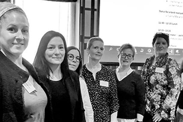 Forløpskoordinatorane Annbjørg Hausken (frå v.), Margrethe Aarø Bjånesø, Britt Jorunn Tjore, Kjersti de Luengo, Bente Vargervik,