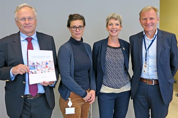 Gruppebilde Svein Gjedrem, Ingvild Sunde, Clara Gjesdal, Eivind Hansen. Foto