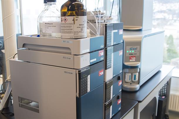 Utstyr til massespektrometri
