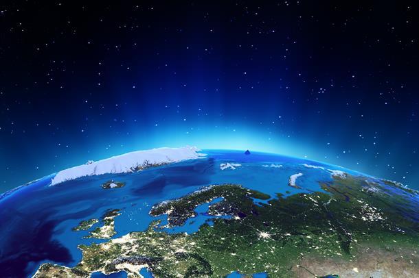 Europa på globus