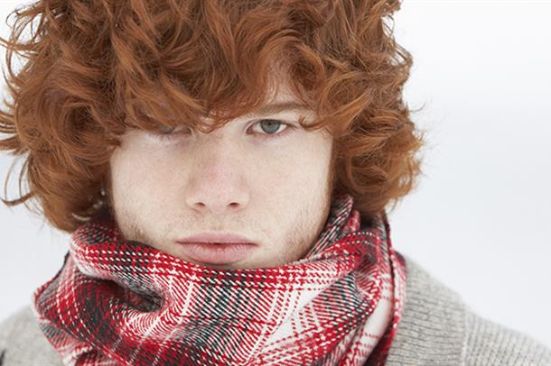 Portrett ung mann. Foto