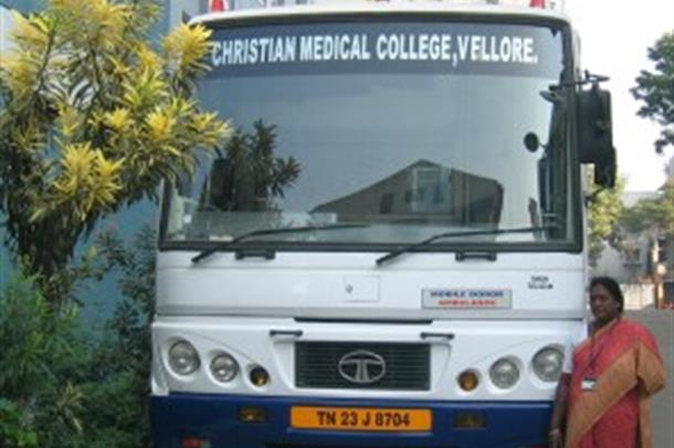 Blodbankbuss Christian Medical College Hospital